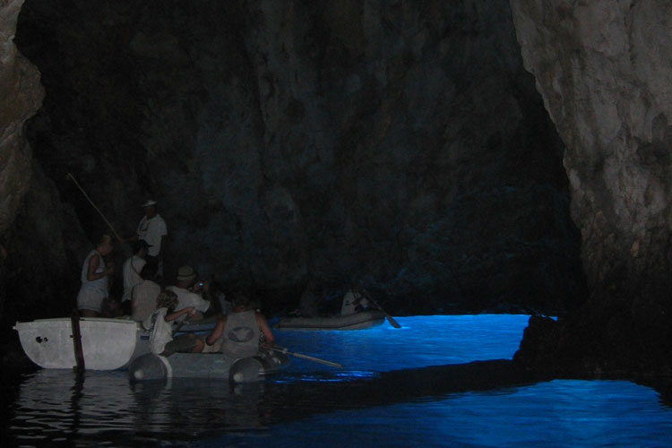 Boat excursion to Blue Cave the island Biševo